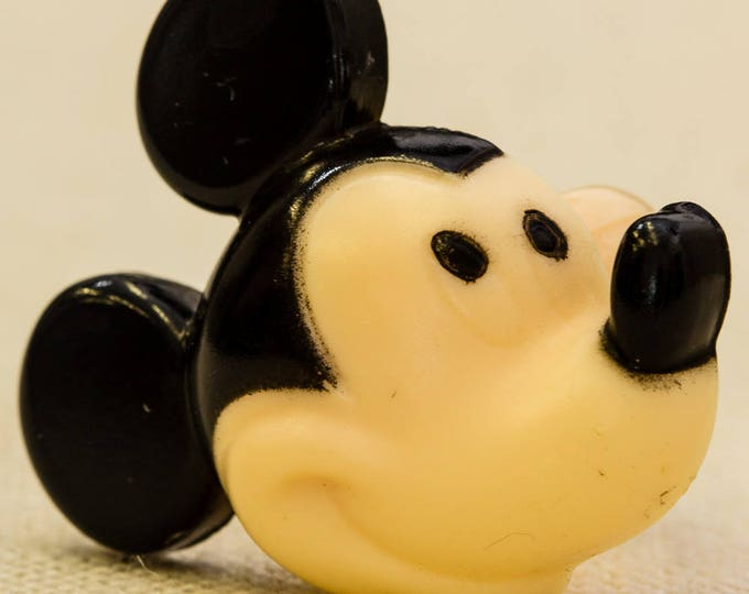 Mickey Mouse Plastic Vintage Ring Silhouette Disney Adjustable Kids Size 7RI