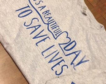 Grey Long Sleeved Grey's Anatomy shirt