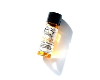 Triple Vanilla Botanical Perfume with fresh infused organic Vanilla beans - 1 ml