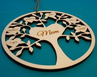 Personalised Family Tree, Family tree plaque, Mothers Day Present, Fathers Day Present, Custom Family tree, gift for her