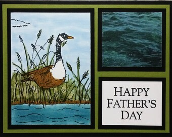 Fathers Day Card, Handmade Card, Card For Him, Card For Dad, Masculine Card, Greeting Card, Canadian Goose, Stampin Up Card