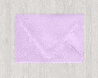 10 A6 Envelopes - Euro Flap - Light Purple - DIY Invitations - Envelopes for Weddings and Other Events