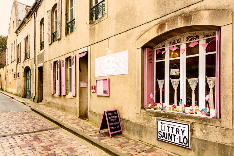 Pink Shutter Street. Paris Photography French Country Decor