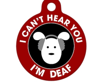 Deaf Medical Id Tag - Dog Medical Alert Pet Tag, ID Tag, Child ID Tag, Dog ID Tag