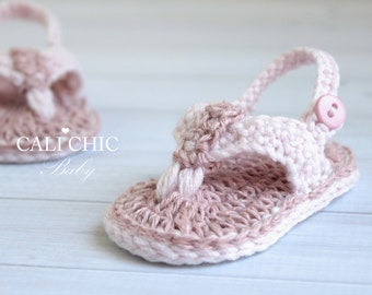 Crochet PATTERN 312 - Malibu Baby flip flops pattern - Crochet baby sandals - Instant Download PDF Pattern