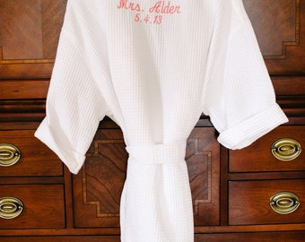 BRIDESMAID GIFT - Wedding Robes - Personalized Robes - Getting Ready Robe - Bridal Party Robes - Bridal Robes - Maid of Honor Robe - Kimono