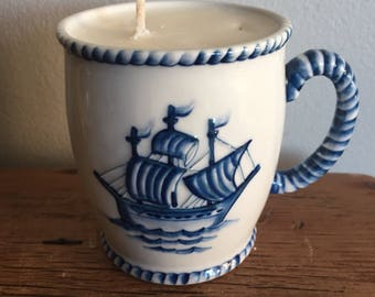 Nautical Teacup Candle