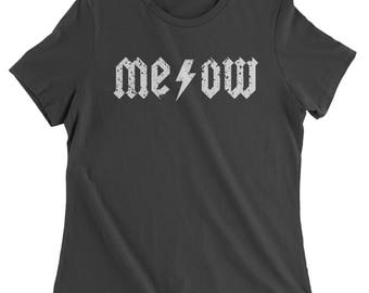 Meow Lightning Bolt Womens T-shirt
