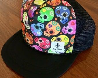 Halloween Mini Sugar Skulls trucker hat