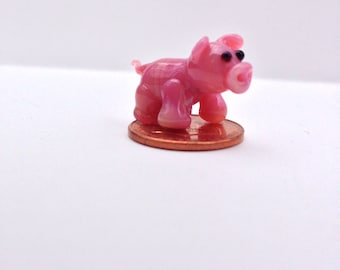 Miniature glass pig