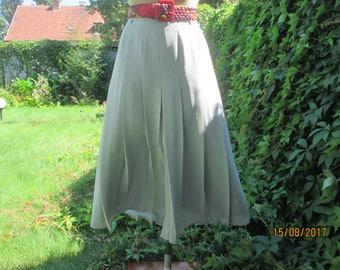 Pleated Long Skirt / Pleated Skirt / Pleated Skirts / Gray Pleated Skirt / Skirt Vintage / Size EUR38 / 40 X UK10 / 12 / Slits
