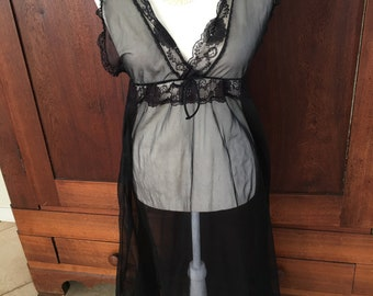 S/Sheer/Long/Nightgown/Small