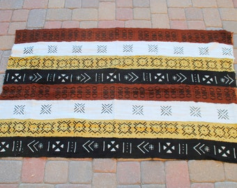 "African Mud Cloth 42""x65"""