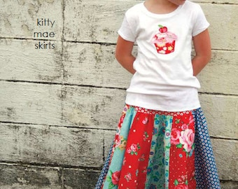 kitty mae skirts pattern with applique designs by marie-madeline studio (M079)