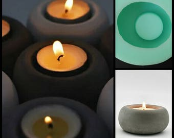 silicone mold Concrete clay apple candlestick decoration home bar coffee shop restaurant romantic wedding molds