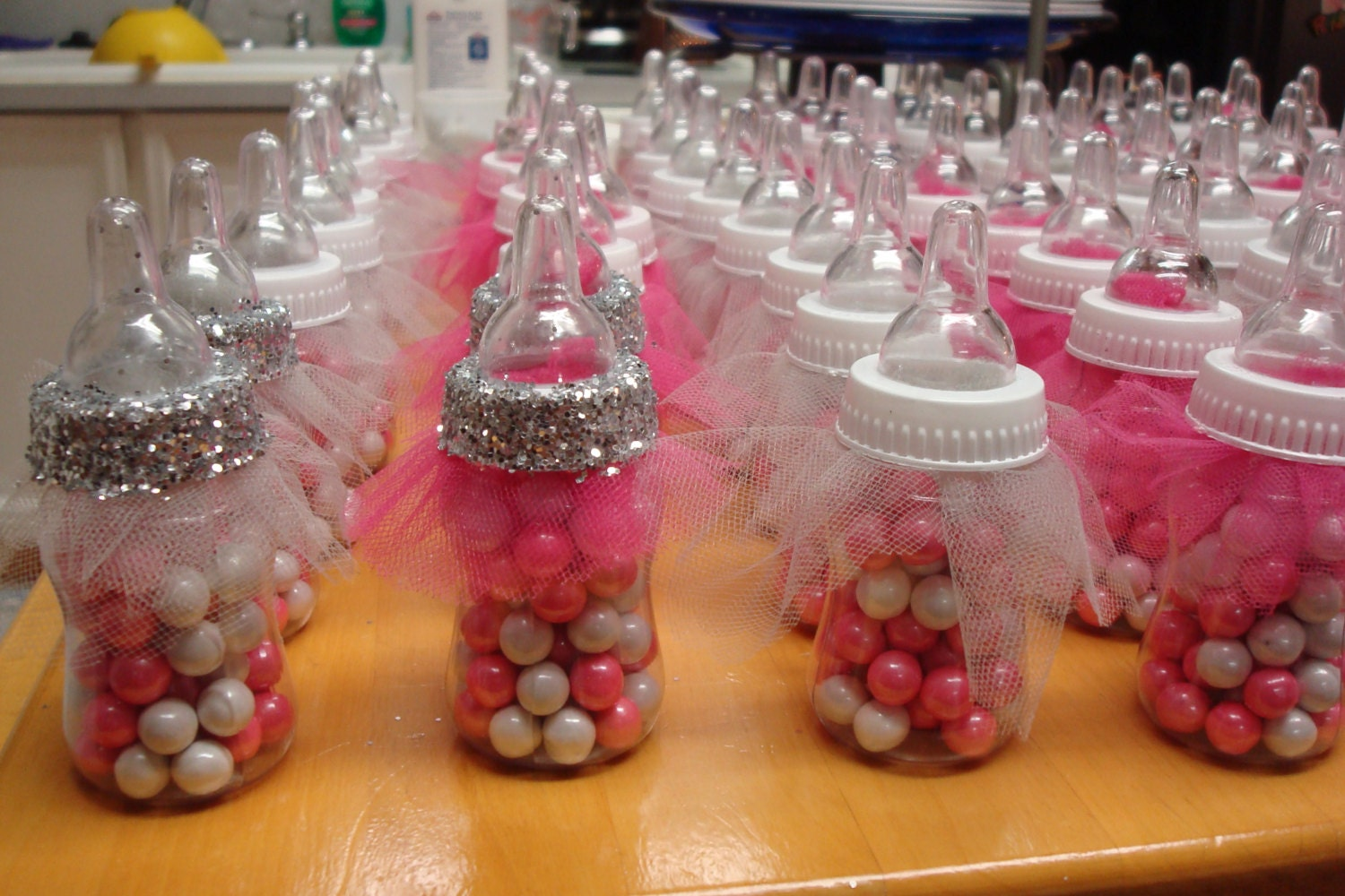 Tutu baby bottle favors fancy baby shower favors ballerina - Baby shower invitations and decorations ...