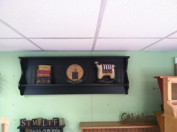 Like this item? & Primitive Plate Rack Wall Shelf Country Wood Display Plate and