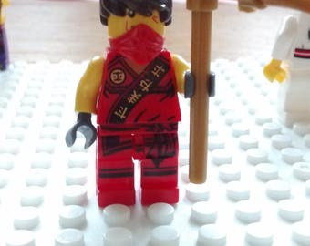 Ninja3 figurine made from Lego pieces
