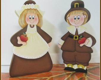 Girl and Boy Pilgram set.