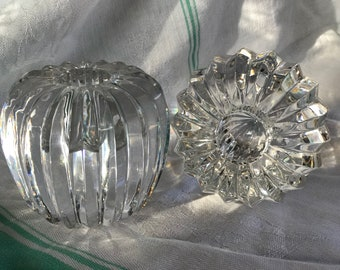Leaded crystal candle holders