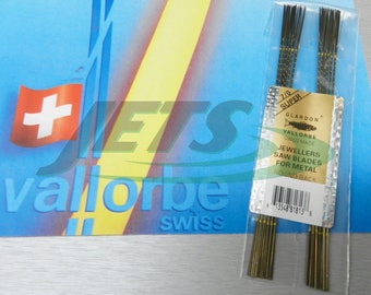 Vallorbe Swiss Saw Blades Lames De Scie #7/0 Jewelers Saws Original A-1 1-Gross (1E)