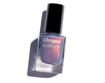 Velvetine - Slate Blue Shimmer Holographic Sparkle Nail Polish