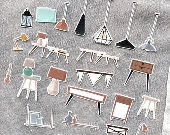 Transparent Sticker Flakes - Home Essentials