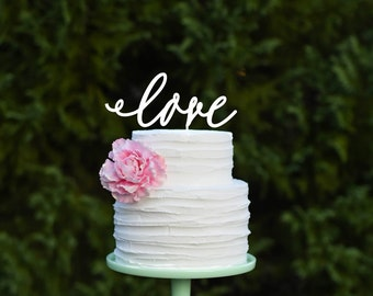 Love Wedding Cake Topper, Wedding Cake Topper, Rustic Cake Topper, Love Topper for Wedding, Bridal Shower Cake Topper, Anniversary Topper