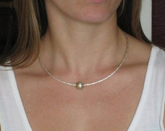 Silver Bead Chocker - Simple and elegant  for everyday