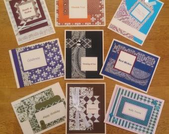 Set of 9 Homemade Cards