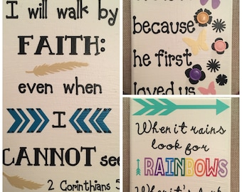 Inspirational canvases 5x7