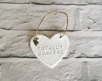 Totally Bonkers Alice in Wonderland Heart Hanging Decoration