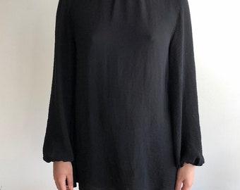 Blouse Sleeve Slit Back Dress