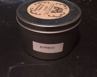 Bamboo 16 ounce Large Tin Soy Candle