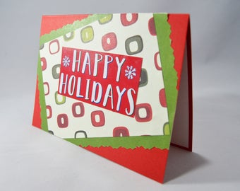 Red & Green Holiday Card