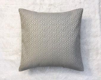 "Grey Diamond Upholstery Pillow Cover | Cushion Cover | Throw Pillow Cover | Decorative Pillow Cover | Envelope Closure | 18""x18"""
