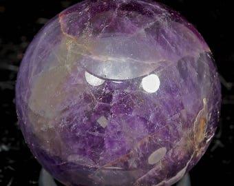 Beautiful Polished Purple Fluorite Sphere