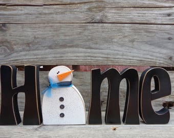 Seasonal Decor - Home letters with interchangeable O- Classic Font