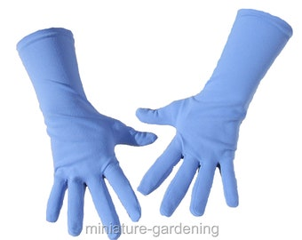 Gardening Gloves, Periwinkle Blue, Size Options: Large