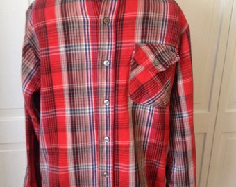 Free ship Wear-guard mens flannel plaid workshirt  vintage 60s