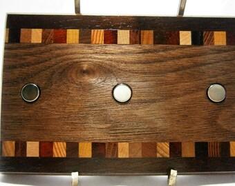Key Holder / Wood Key Holder / Magnetic Key Holder / Christmas Gift  / Office Decor / Housewarming Gift / Wall Key Holder