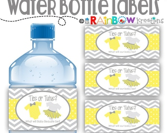WBW-796: DIY - Ties or Tutus Water Bottle Wrappers-Instant Downloadable File