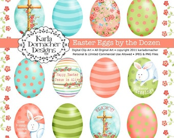 Easter Eggs by the Dozen INSTANT DOWNLOAD Christian Theme Faith Based KD102