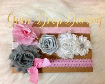 Baby Headbands / Toddler Headbands / Pink Headbands / Gray Headbands / Bow Headbands / Flower Headbands / Girls Headbands