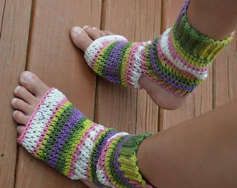 Made To OrderGarden Colored Crocheted Yoga/Pilates/Dance/Pedicure/Flip Flop Socks (WIDE SIZE)