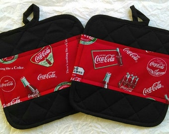 Coca-Cola Kitchen Pot Holders - Hot Pads