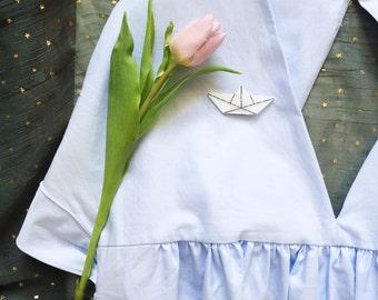 PIN small boat - Hand Made - La Rochelle