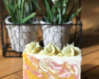 Lily of the Valley homemade goat milk soap