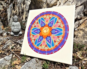 Mandala painting art hanging for overall wellbeing, mental health awareness, wedding anniversary gift idea, decorating ideas living room.