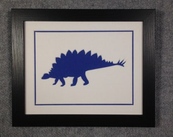 Blue Dinosaur Framing